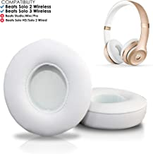 Wicked Cushions Beats Solo 2 & 3 Earpad Replacement - Beats Solo Cushion Replacement for Solo 2 & 3 Wireless On Ear Headphones | White