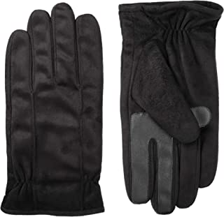 isotoner Men's Microfiber Touchscreen Texting Warm Lined Cold Weather Gloves with Water Repellent Technology