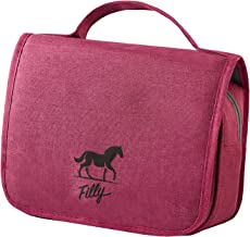 Hanging Travel Toiletry Bag, with hook for Men or Woman, use as a Cosmetics or Makeup bag (Rose Red)