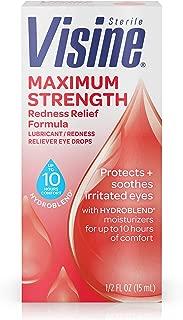 Visine Maximum Strength Redness Relief Formula Eye Drops, 0.5 fl. oz