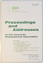 Proceedings and Addresses of The APA American Philosophical Association, Volume 70 Number 2, November 1996