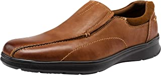 JOUSEN Men's Loafers Casual Slip On Shoes Lightweight Leather Shoes