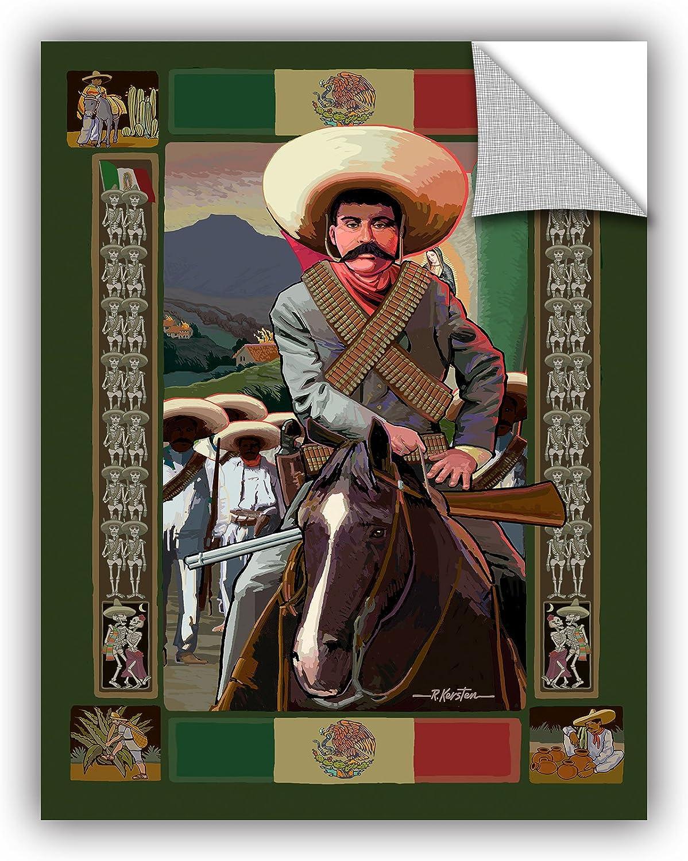 ArtWall Rick Kersten's Zapata Art Appealz Removable Wall Art Graphic, 14 by 18-Inch