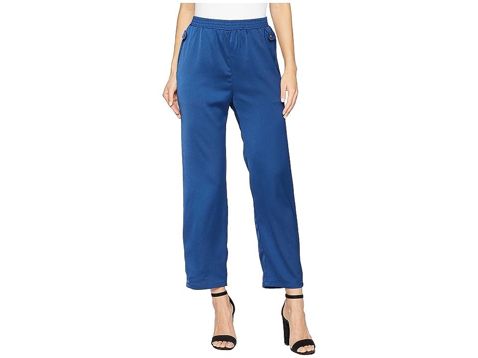 ROMEO & JULIET COUTURE Front Tie Pants (Estate Blue) Women