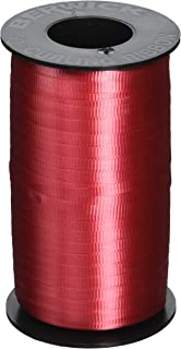 "Berwick Crimped Curling Ribbon 3/16"" Wide 500 Yds: Red Splendorette"