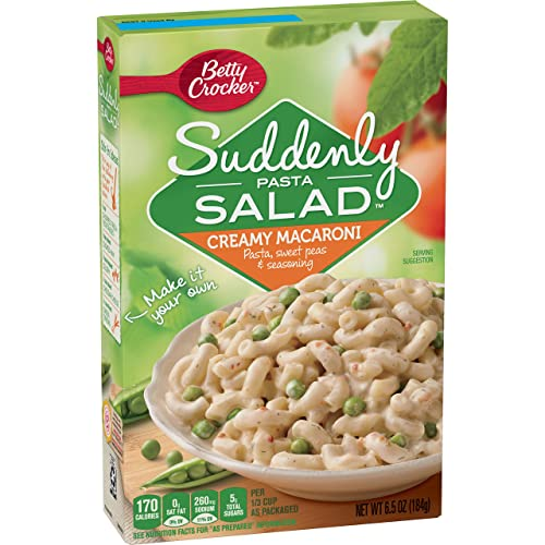 Betty Crocker Suddenly Salad, Creamy Macaroni Pasta Salad Dry Meals, 6.5 Oz Box (Pack of 12)