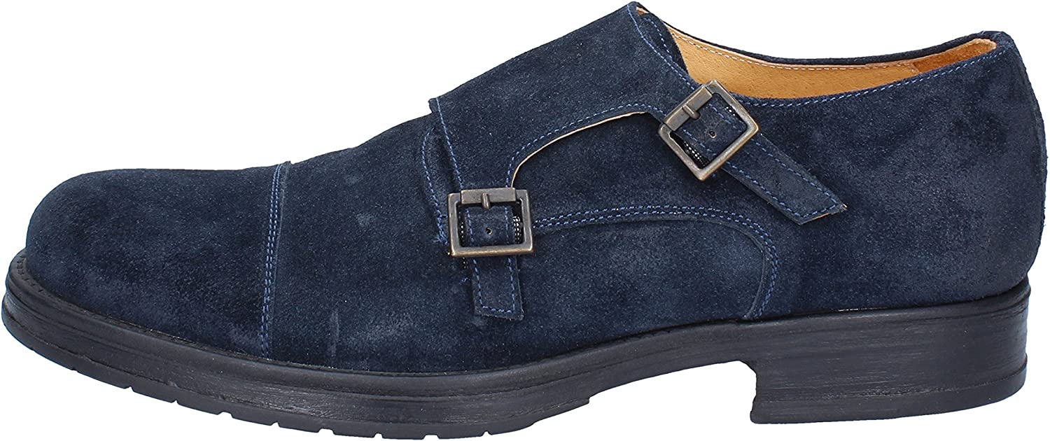 SALVO BARONE Oxfords-shoes Mens Suede bluee