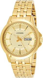 Citizen Men's Crystal-Accent Goldtone Stainless Steel Watch