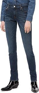 Calvin Klein 女式印 CKJ 021中腰修身牛仔裤