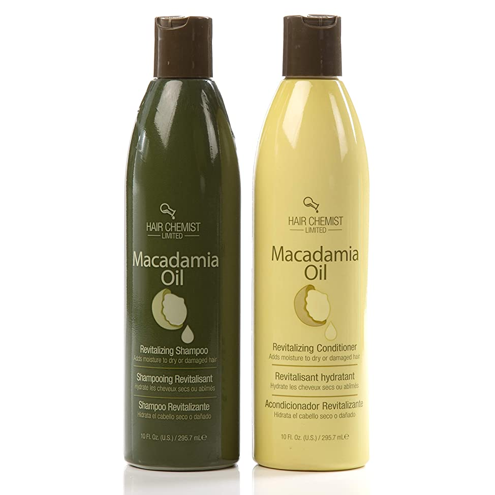 Hair Chemist Macadamia Oil Revitalizing Combo 2. Shampoo 10oz. + Conditioner 10oz