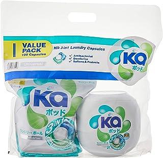 Ka Prince 3in1 Laundry Capsules Universal (16g x 52pcs) + Universal Refill (16g x 56pcs), 108 count