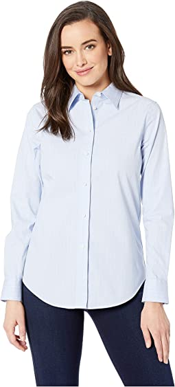 b7ae373e7 Blue/White Multi. 37. LAUREN Ralph Lauren. Embroidered Striped Button Down  Shirt. $32.99MSRP: $79.50