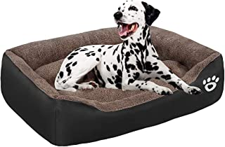 Warm Comfort Large Dog Beds Washable, Orthopedic Dog beds Basket for Medium and Large Dogs, Non-Slip Bottom Fleece Pet Bed