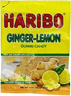 Haribo Gummy Candy, Ginger Lemon, 4-ounce (Pack of 6) From Jersey Candy Company