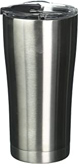 Tervis 1287295 Stainless Stainless Steel Tumbler with Clear and Black Hammer Lid 20oz, Silver
