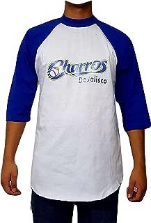 Charros De Jalisco 3/4 Sleeve Men's Baseball Tee T-Shirt