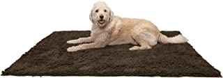 Furhaven Pet Dog Mat   Muddy Paws Absorbent Chenille Bath Towel & Shammy Rug for Dogs & Cats, Mud (Brown), Jumbo Plus