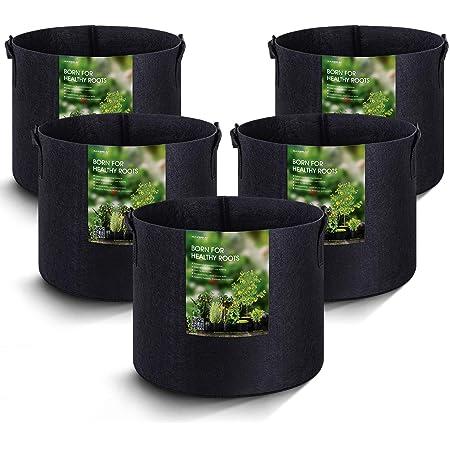 Jaimenalin 20-Pack Bolsas De Cultivo De 1 Gal/ón Potes De Tela De Aireaci/ón para Trabajo Pesado Ollas De Tela No Tejida Espesadas Plantas De Cultivo De Plantas