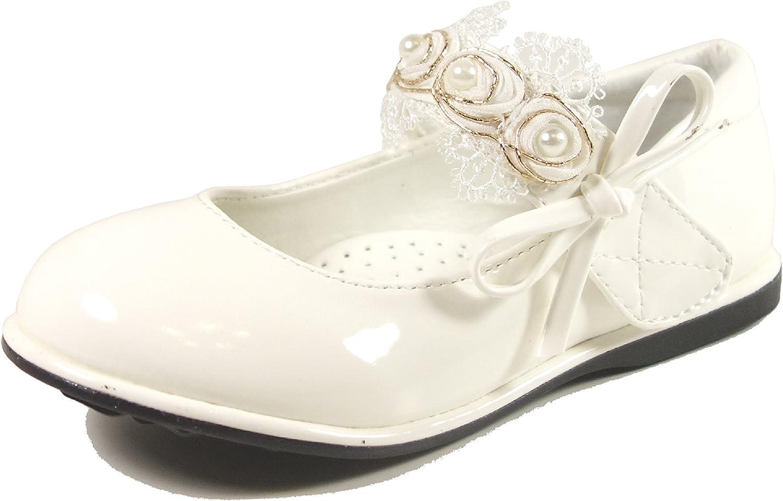 Nova Toddler Little Girls Mary Jane Style Dress Ballet Flat Shoes (Toddler 6-13)