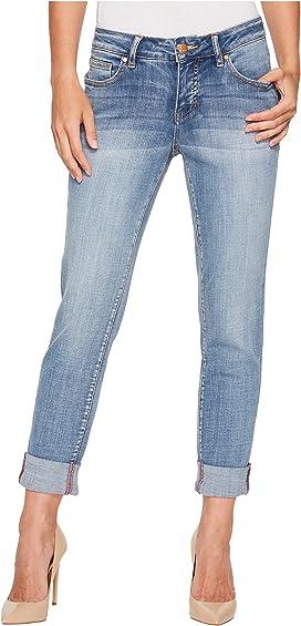 JAG JEANS NEW Women/'s Carter Girlfriend Crosshatch Straight Leg Jeans TEDO
