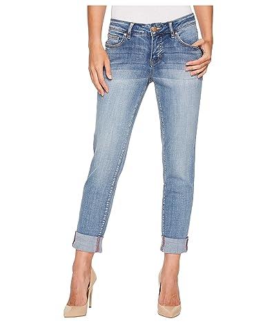 Jag Jeans Carter Girlfriend Crosshatch Denim Jeans (Mid Vintage) Women