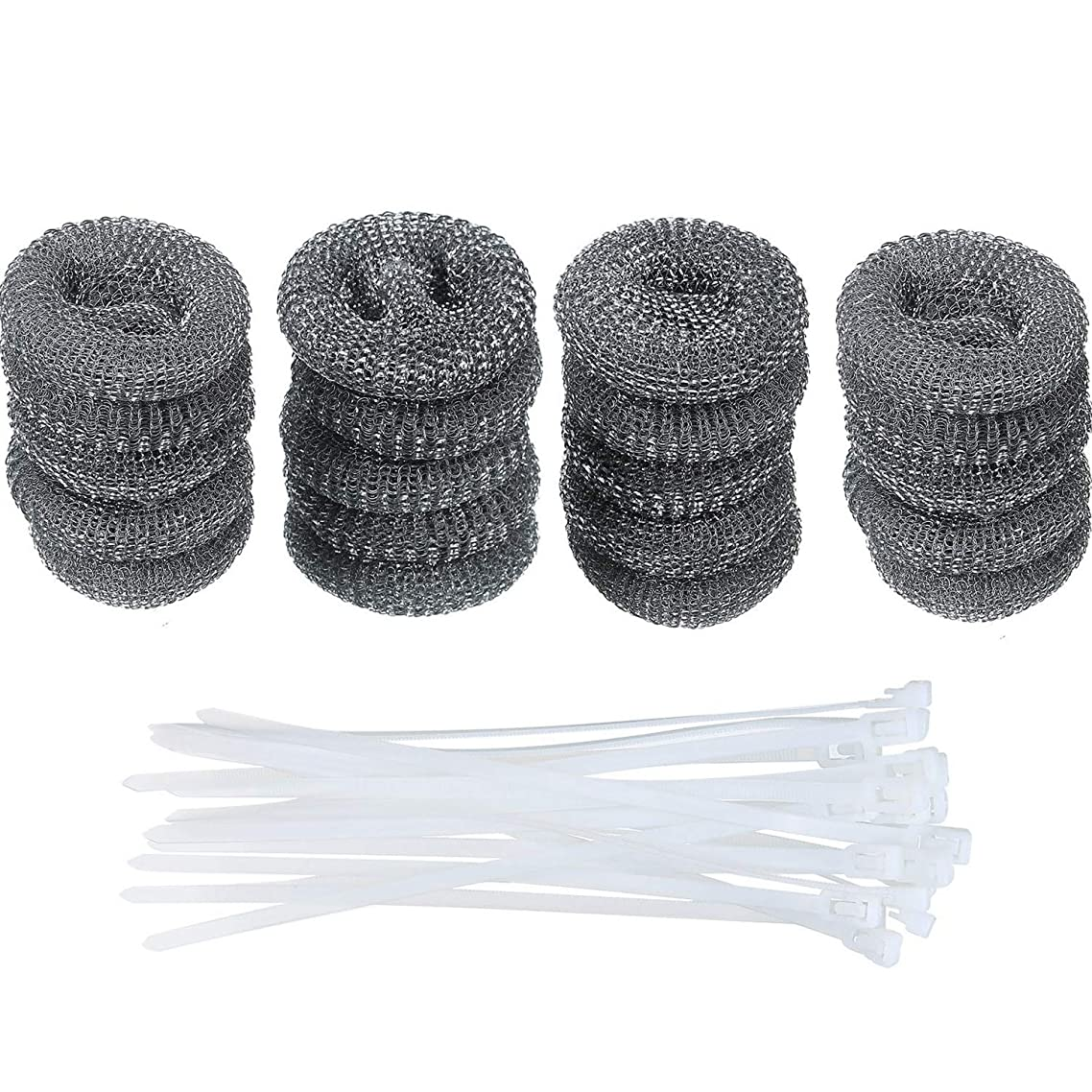 Zoleland 20 Pack Lint Traps Washing Machine Lint Trap Snare Laundry Mesh Washer Hose Filter and 20 Pieces Cable Ties