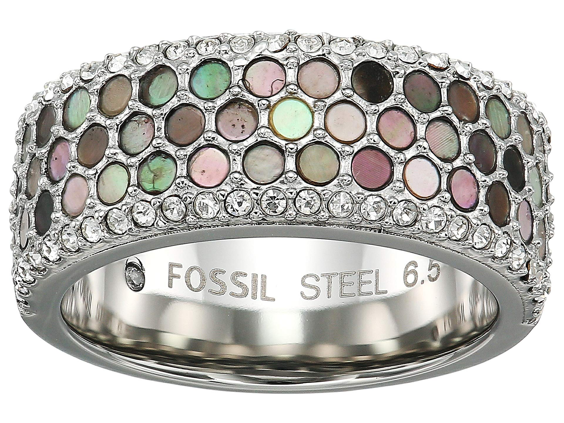 Anillo para Mujer Fossil Mother-of-Pearl Pave Ring  + Fossil en VeoyCompro.net