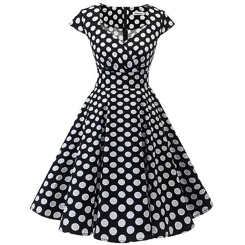 bbonlinedress Women s 50s 60s A Line Rockabilly Dress Cap Sleeve Floral  Vintage Swing Party Dress 88fe54b94247