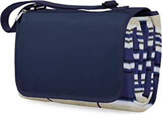 ONIVA - a Picnic Time Brand Outdoor Picnic Blanket Tote XL, Blue Stripe