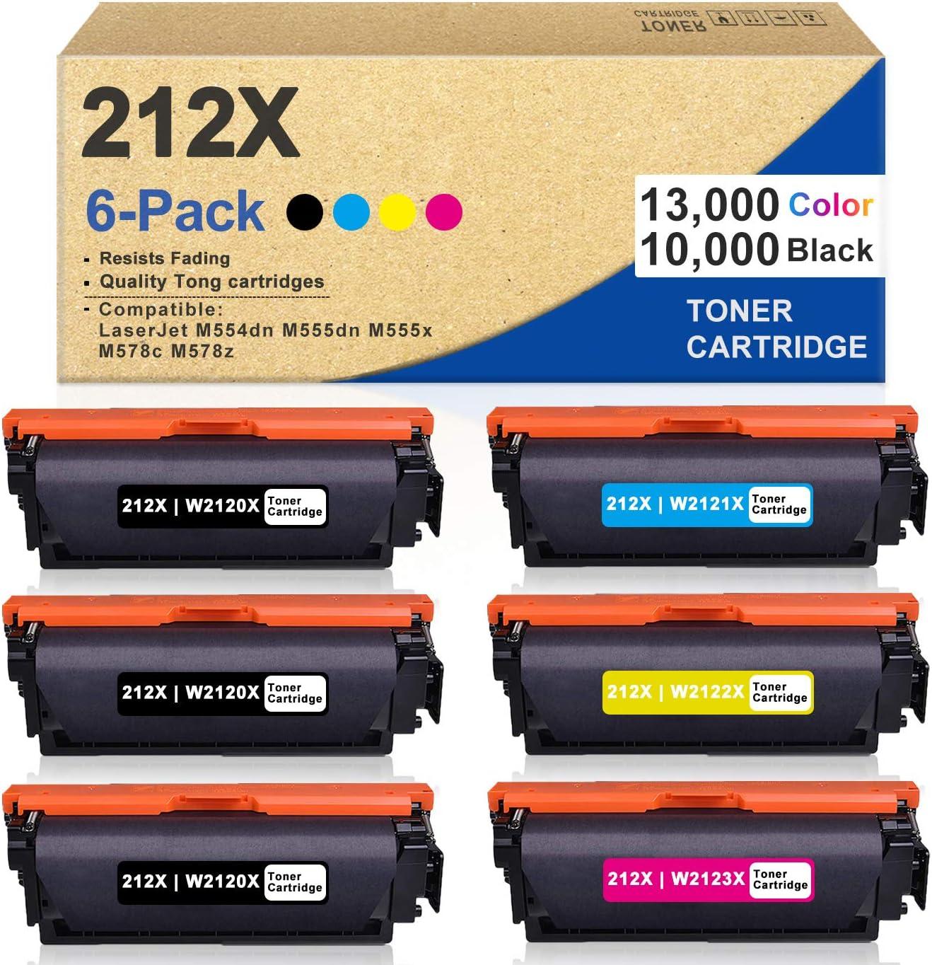6 Pack Trust 3BK+1C+1M+1Y 212X W2120X Bombing free shipping W2121X Compati W2122X W2123X