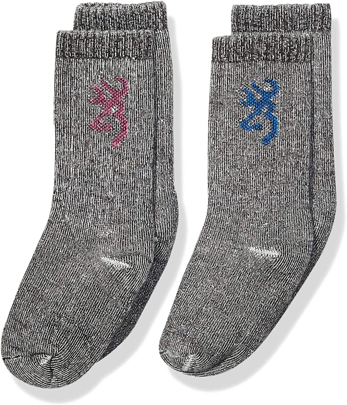 Browning Youth Everyday Wool Socks   Pink/Blue   2-Pack