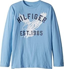 Hilfiger Long Sleeve Crew Neck Shirt (Big Kids)