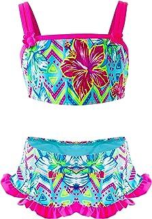 4275af3bf Traje de Baño Niña, Conjunto de Bikini Flamingo de Dos Piezas, Verano Playa  Baño