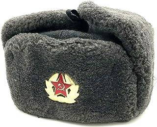 BELEON Soviet Hat Army Ushanka - Authentic Russian Communist Hat - WW2 Soviet Surplus
