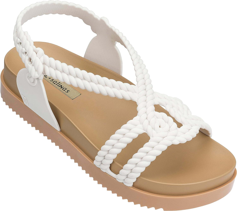 Melissa shoes Women's Cosmic Sandal + Salinas Sand 5 M US
