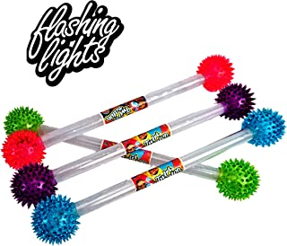 JA-RU Twirling Batons for Girls Soft with Flashing Lights (1 Baton Assorted Color) Cheerleader Dance Colors Lights Baton | Item #2007-1p