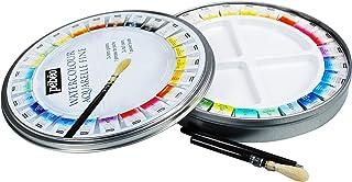 علبة ألوان مائية مستديرة من بيبيو فاين ميتال مجموعة 24 دلاء وفرشاة جيب واحدة