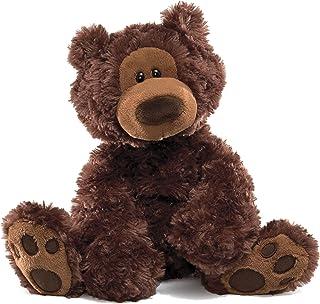 "GUND Philbin Teddy Bear Stuffed Animal Plush, Chocolate Brown, 12"""