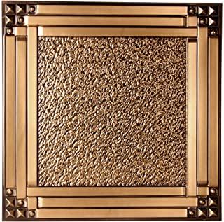 uDecor Genoa Antique Gold 2 ft. x 2 ft. Lay-in or Glue Up Ceiling Tile (Case of 12)