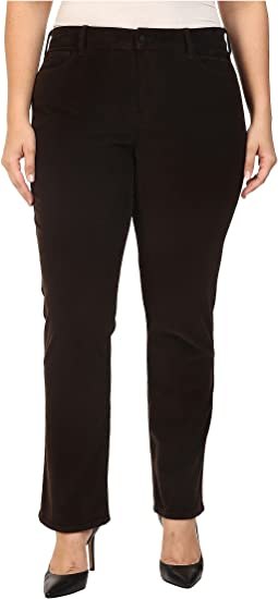 Plus Size Marilyn Straight Jeans in Corduroy in Molasses
