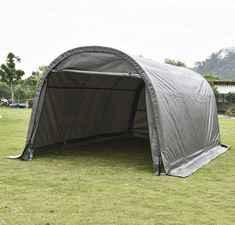 Overseas parallel import regular item HUIJK Storage Sheds 10'x20'x8' FT Max 72% OFF Shed Garag Shelter Car
