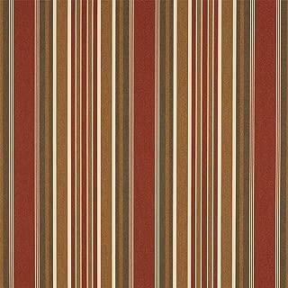 Sunbrella 46in Stripes Premium Eastland Redwood Fabric By The Yard