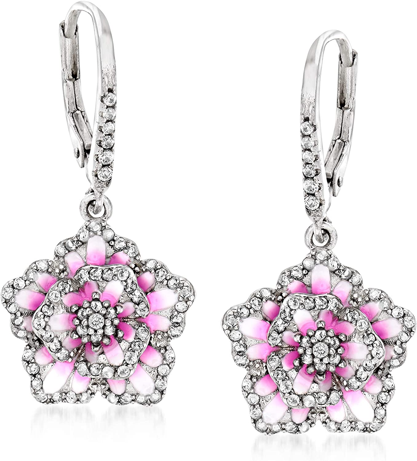 Bombing new work Ross-Simons 0.80 ct. t.w. White Topaz Multicolored Super beauty product restock quality top and Fl Enamel