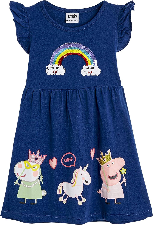 Peppa Pig Mädchen Kleid Langarmkleid Langarm Winterkleid Pink