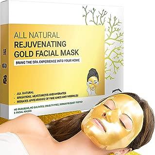 gold face mask sheets