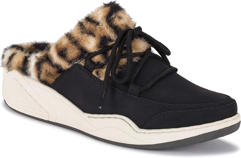 BareTraps Landon Women's Safety and trust Flats Austin Mall Oxfords Size Black 7.5 Leopard
