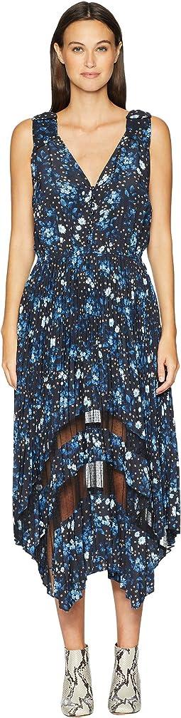 Sleeveless Dot Print Maxi Dress