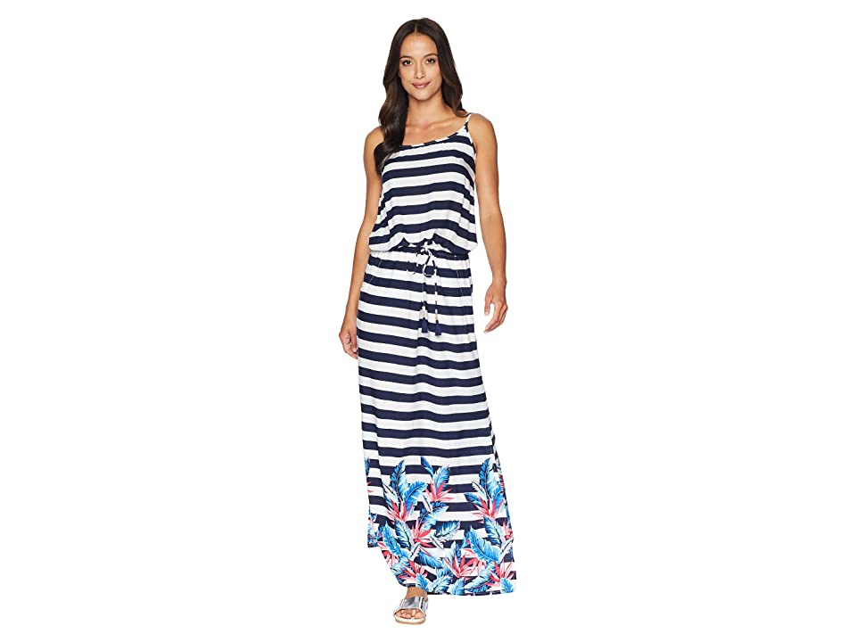 Tommy Bahama Palms Paradise Off the Shoulder Maxi Dress Cover-Up (Mare Navy) Women