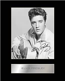 Elvis Presley Signed Mounted Photo Display