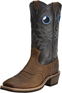 ARIAT Men's Heritage Roughstock Western Boot, Brown Oiled Rowdy